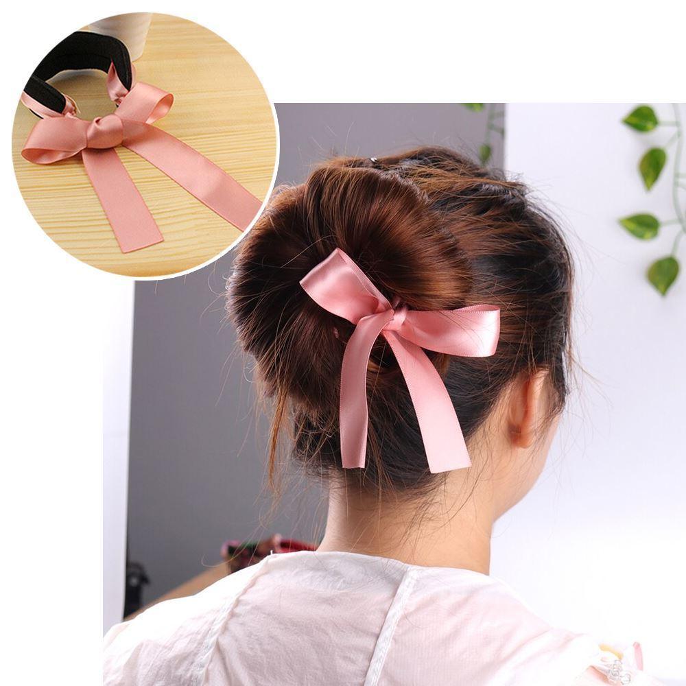Klip do vlasů s mašlí - růžový