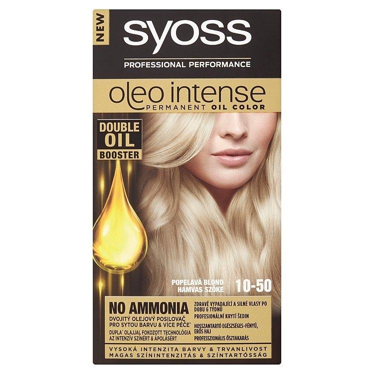 Oleo Intense olejová barva 10-50 Světlá popelavá blond, 50 ml