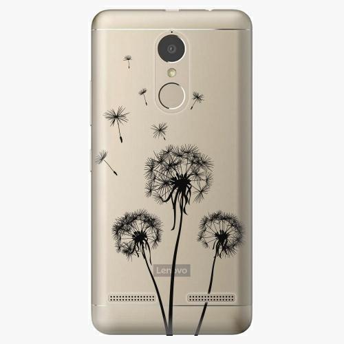 Plastový kryt iSaprio - Three Dandelions – black - Lenovo K6