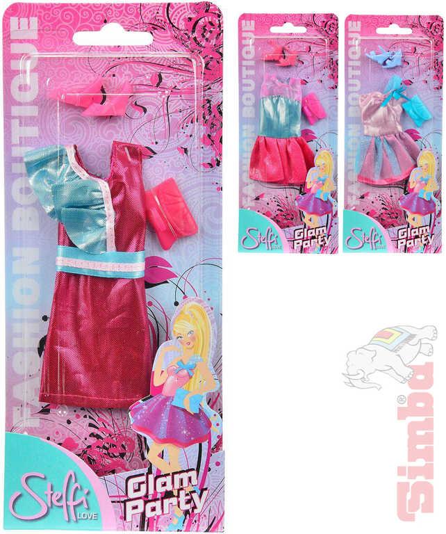 SIMBA Steffi Love šaty Glam Party pro panenku set s doplňky - 3 druhy