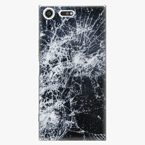 Plastový kryt iSaprio - Cracked - Sony Xperia XZ Premium