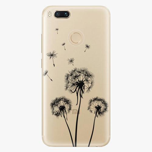 Plastový kryt iSaprio - Three Dandelions - black - Xiaomi Mi A1