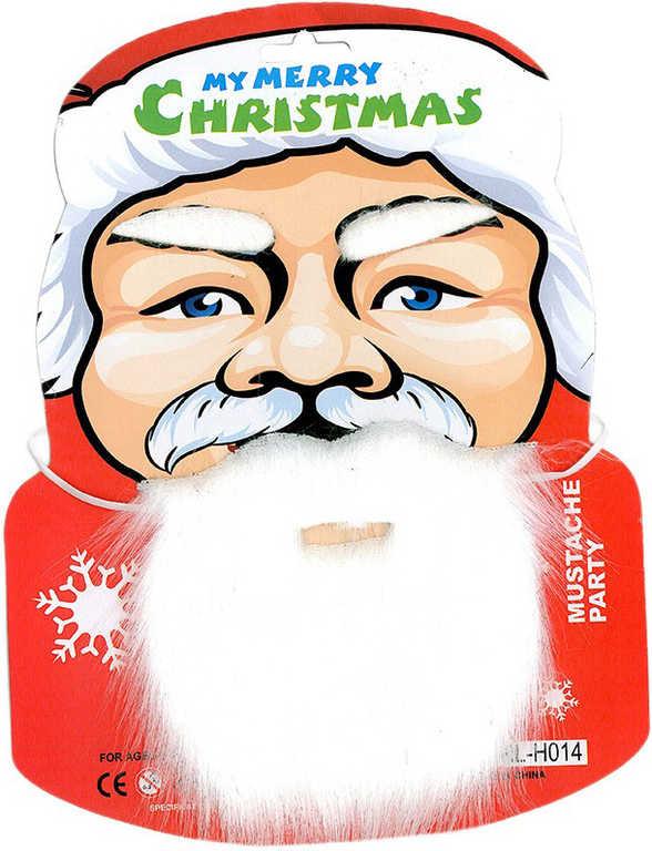 KARNEVAL Vousy + obočí Santa Claus pro dospělé KARNEVALOVÝ DOPLNĚK
