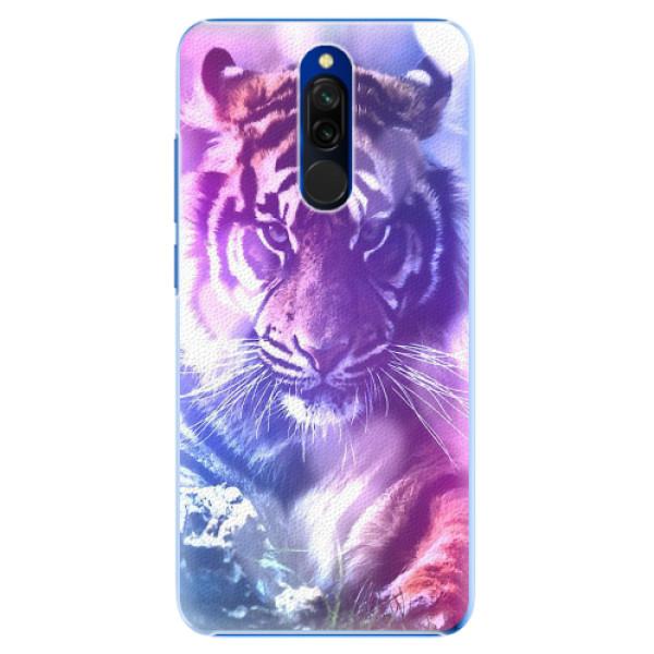 Plastové pouzdro iSaprio - Purple Tiger - Xiaomi Redmi 8