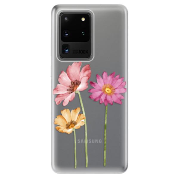 Odolné silikonové pouzdro iSaprio - Three Flowers - Samsung Galaxy S20 Ultra
