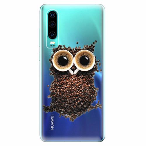 Silikonové pouzdro iSaprio - Owl And Coffee - Huawei P30