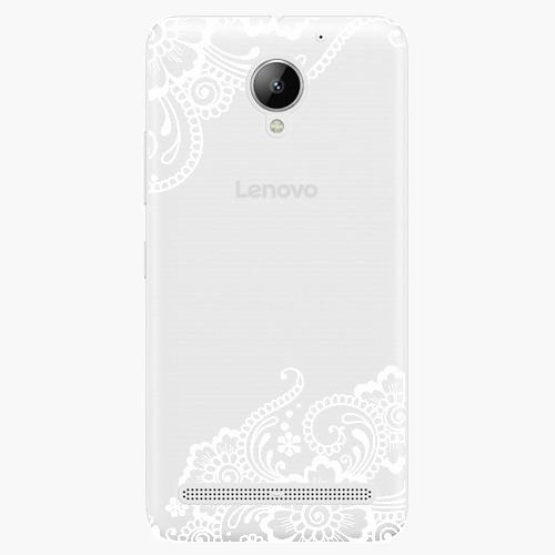 Plastový kryt iSaprio - White Lace 02 - Lenovo C2