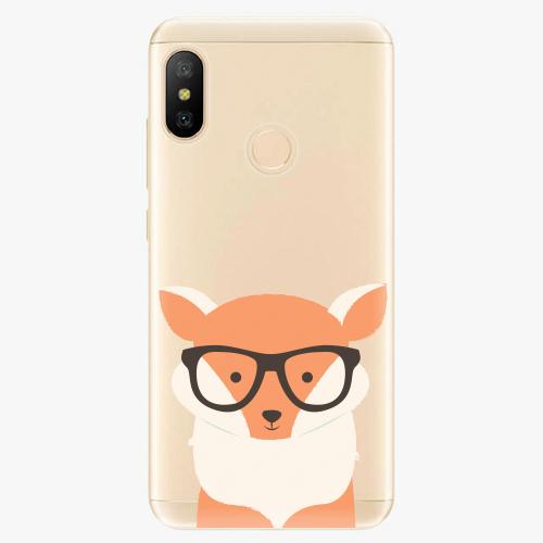Silikonové pouzdro iSaprio - Orange Fox - Xiaomi Mi A2 Lite