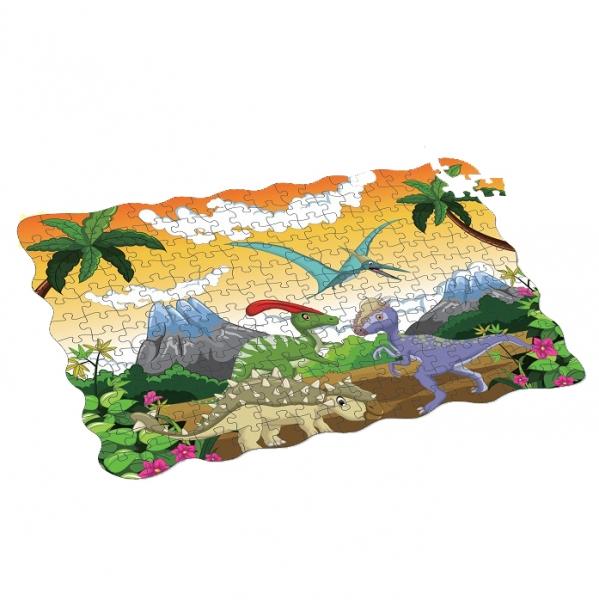Puzzle dinosauři 208 ks, 90x64 cm