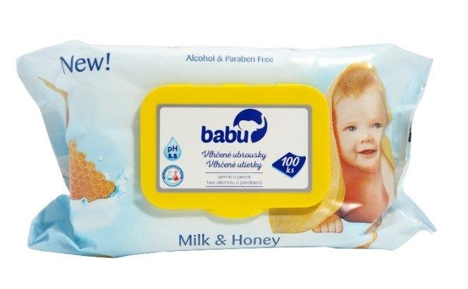 Dětské vlhčené ubrousky Milk+Honey 100ks