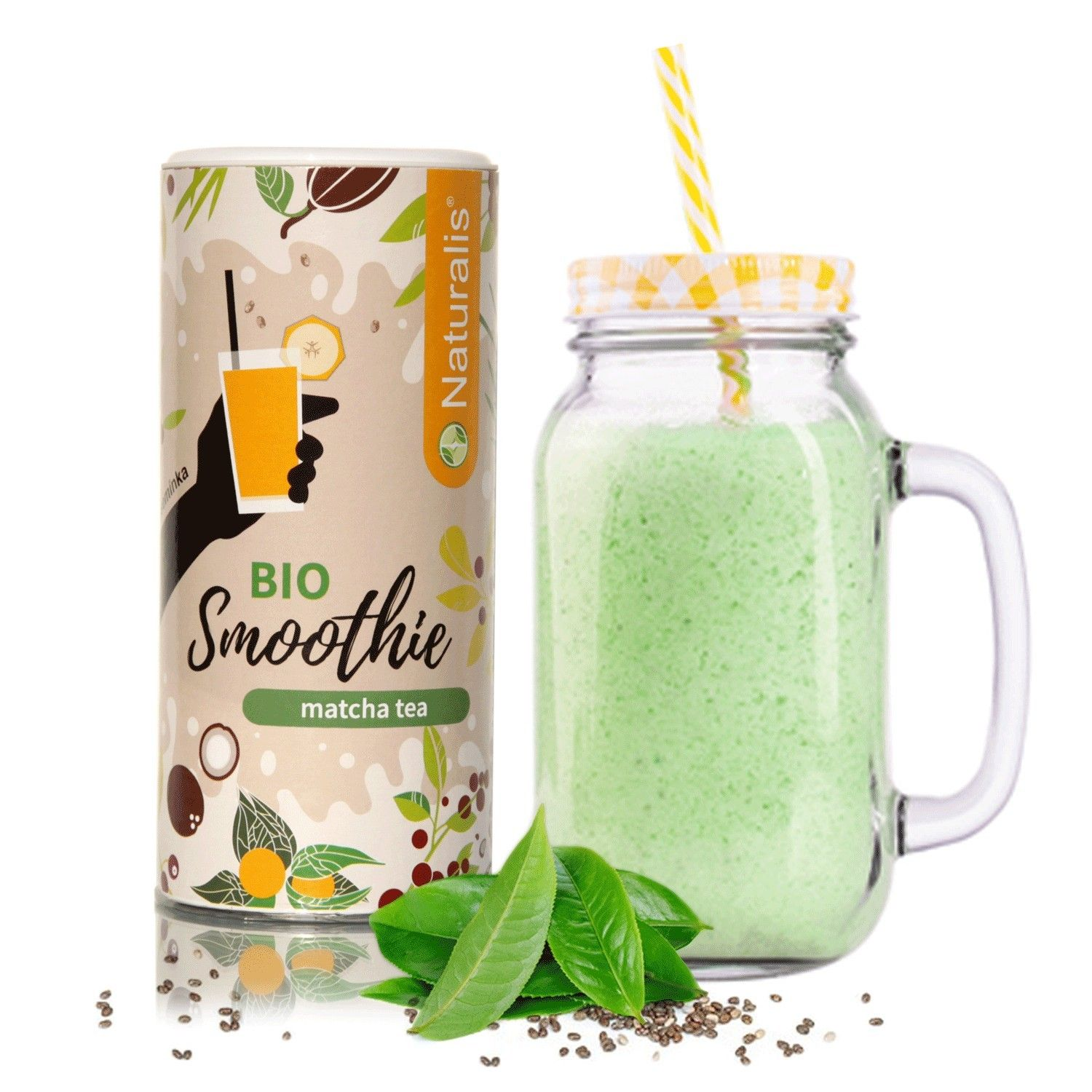 Smoothie Naturalis s Matcha Tea BIO - 180g
