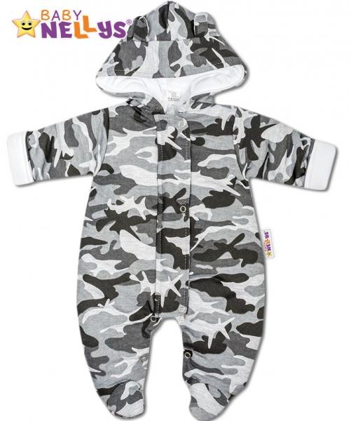 Kombinézka s kapuci a oušky Army Baby Nellys ® maskač