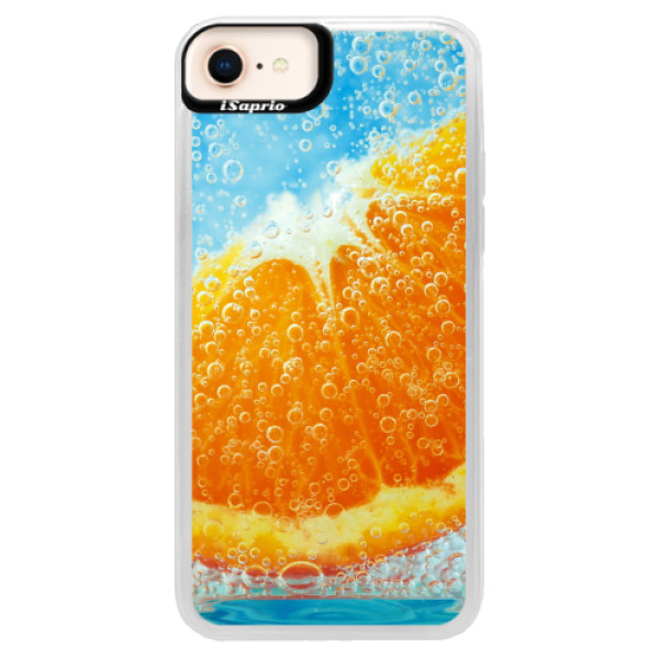 Neonové pouzdro Blue iSaprio - Orange Water - iPhone 8