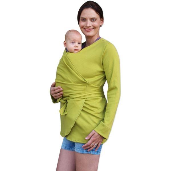 jozanek-zavinovaci-kabatek-pro-nosici-tehotne-biobavlneny-limetkovy-vel-m-l-m-l