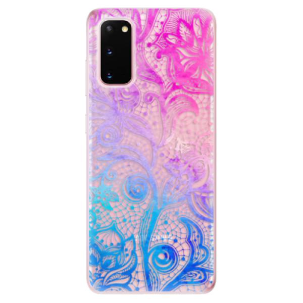 Odolné silikonové pouzdro iSaprio - Color Lace - Samsung Galaxy S20