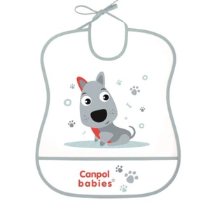 Plastový bryndák s kapsičkou Cute Animals - Pejsek