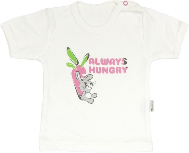 Bavlněné tričko Zajíček - krátký rukáv, roz.