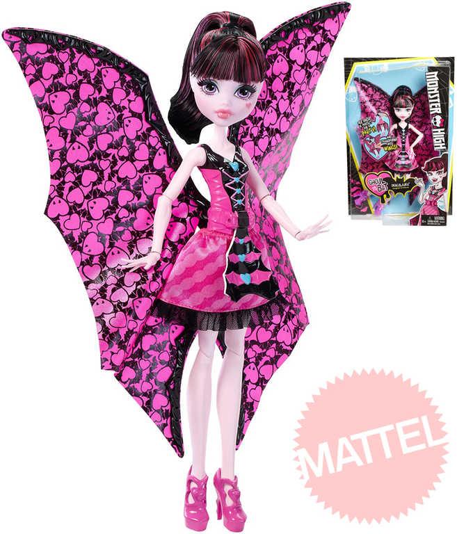 MATTEL Monster High Netopýrka Draculaura měnící se panenka