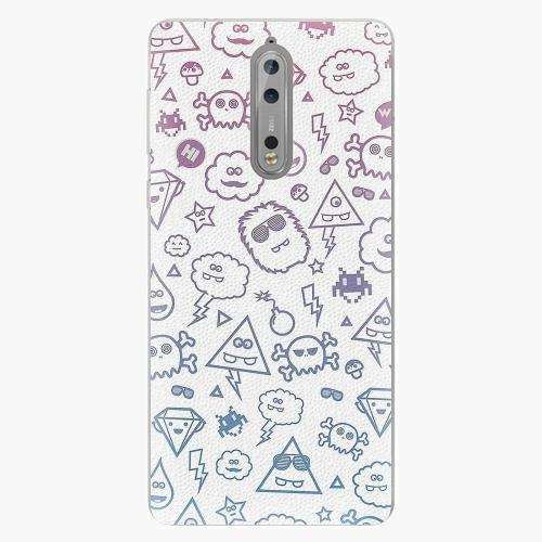 Plastový kryt iSaprio - Funny Clouds - Nokia 8