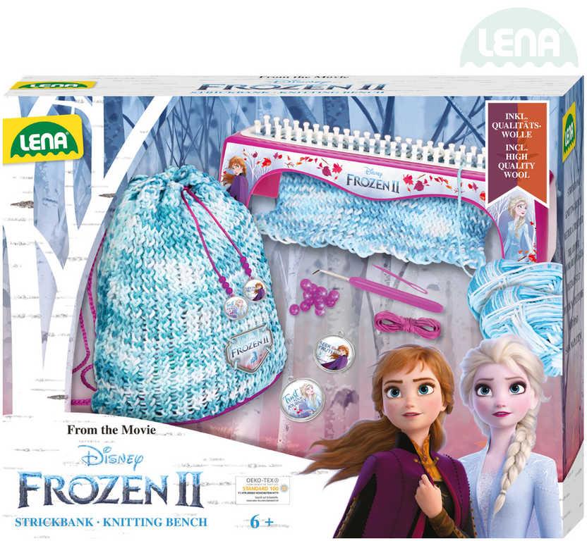 LENA Stůl pletací Frozen 2 (Ledové Království) kreativní set s vlnou a nástroji