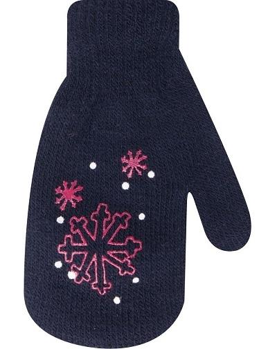 Kojenecké dívčí akrylové rukavičky YO - granátové
