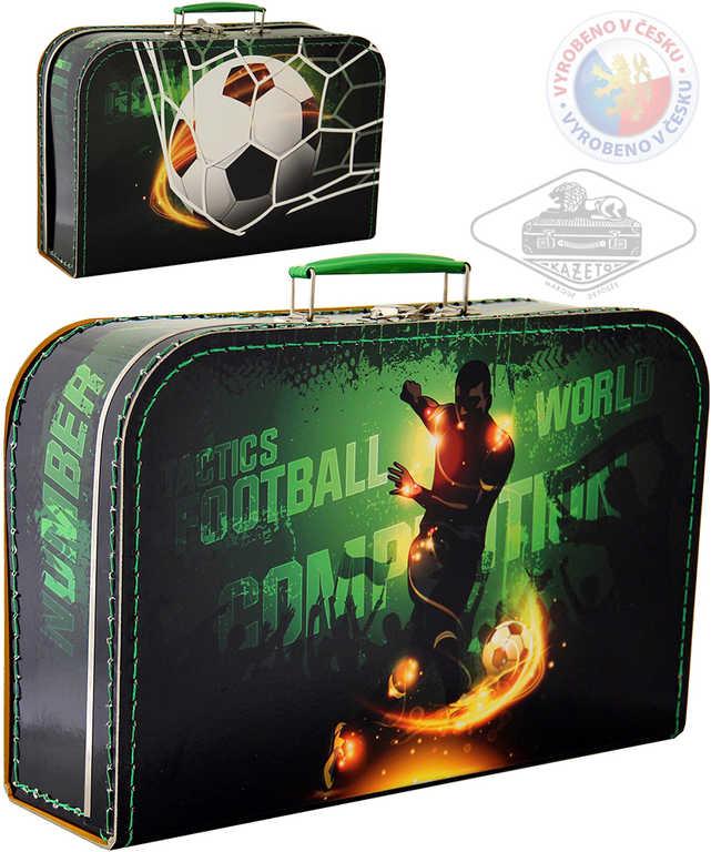 KAZETO Kufr dětský Fotbal velký kufřík pro kluky