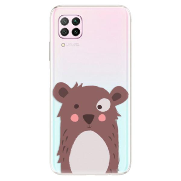 Odolné silikonové pouzdro iSaprio - Brown Bear - Huawei P40 Lite