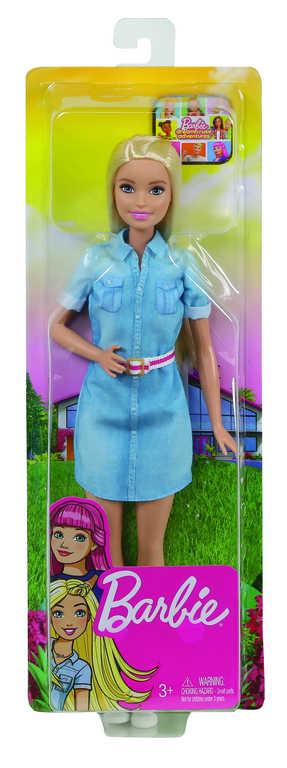 MATTEL BARBIE Panenka džínové šaty Dreamhouse Adventures