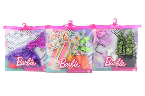 Barbie 2 ks barbie/ken fashion oblečky GWB20