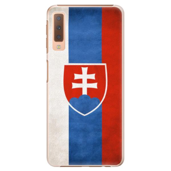 Plastové pouzdro iSaprio - Slovakia Flag - Samsung Galaxy A7 (2018)