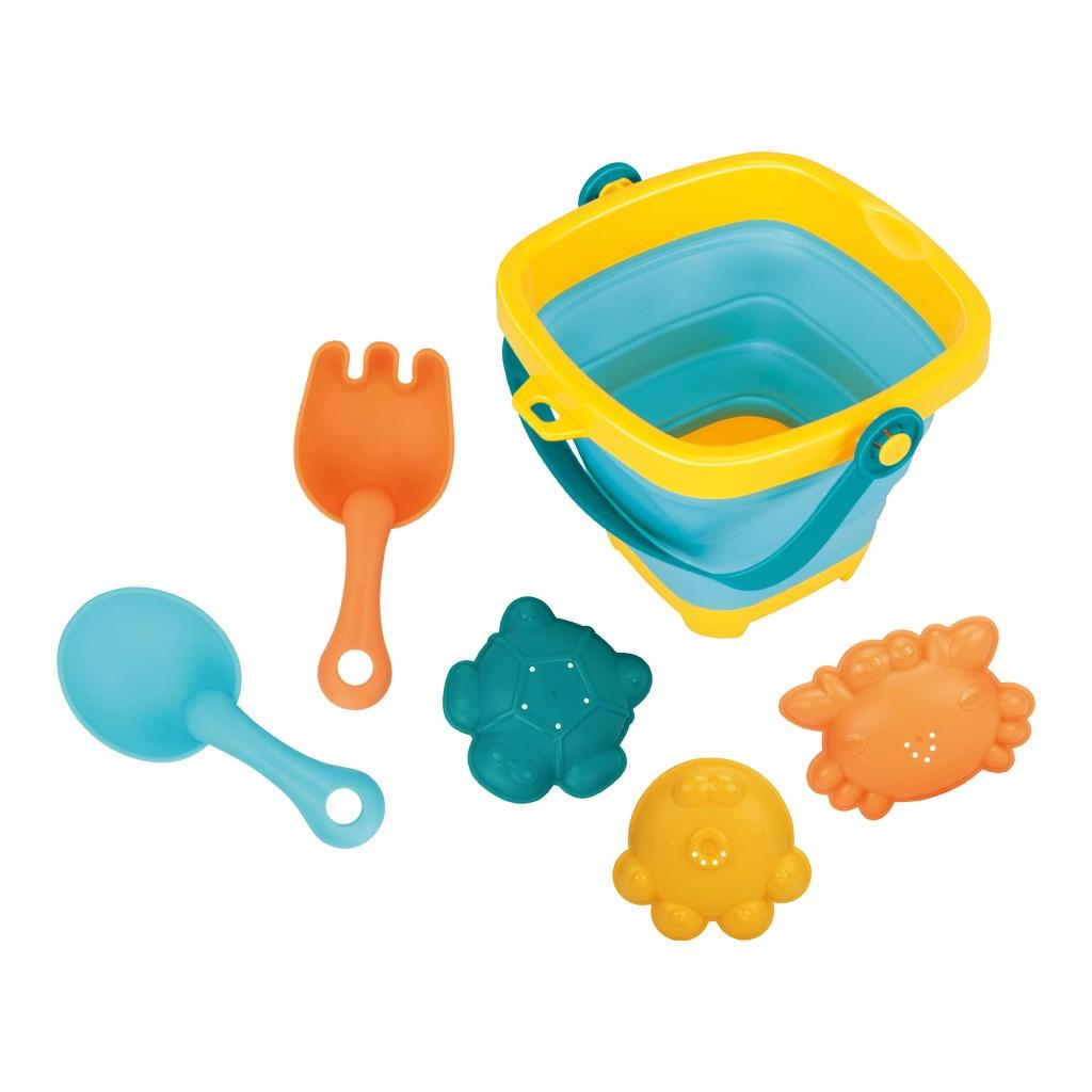 Skládací kyblík a hračky do vody 5ks BAYO - dle obrázku