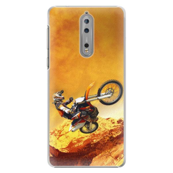 Plastové pouzdro iSaprio - Motocross - Nokia 8