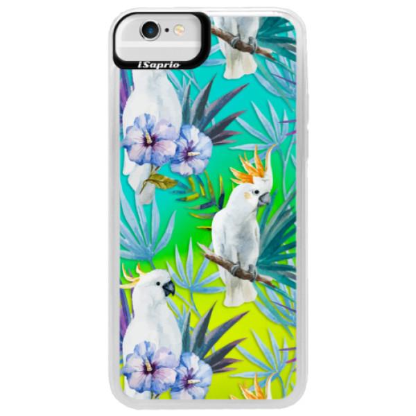 Neonové pouzdro Blue iSaprio - Parrot Pattern 01 - iPhone 6/6S
