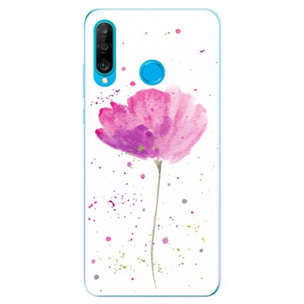 Odolné silikonové pouzdro iSaprio - Poppies - Huawei P30 Lite