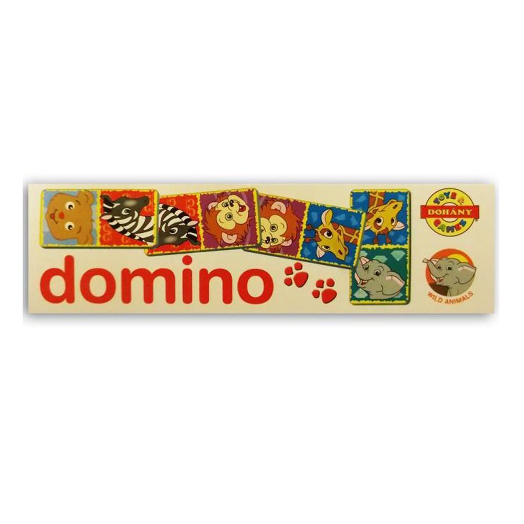 Dětské domino Zvířátka ze ZOO - bílá