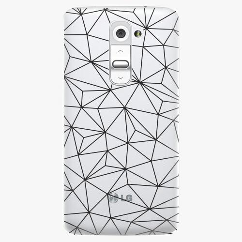 Plastový kryt iSaprio - Abstract Triangles 03 - black - LG G2 (D802B)
