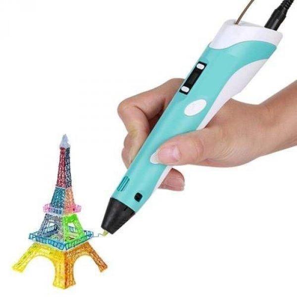 3D pero s LCD displejem - žlutá
