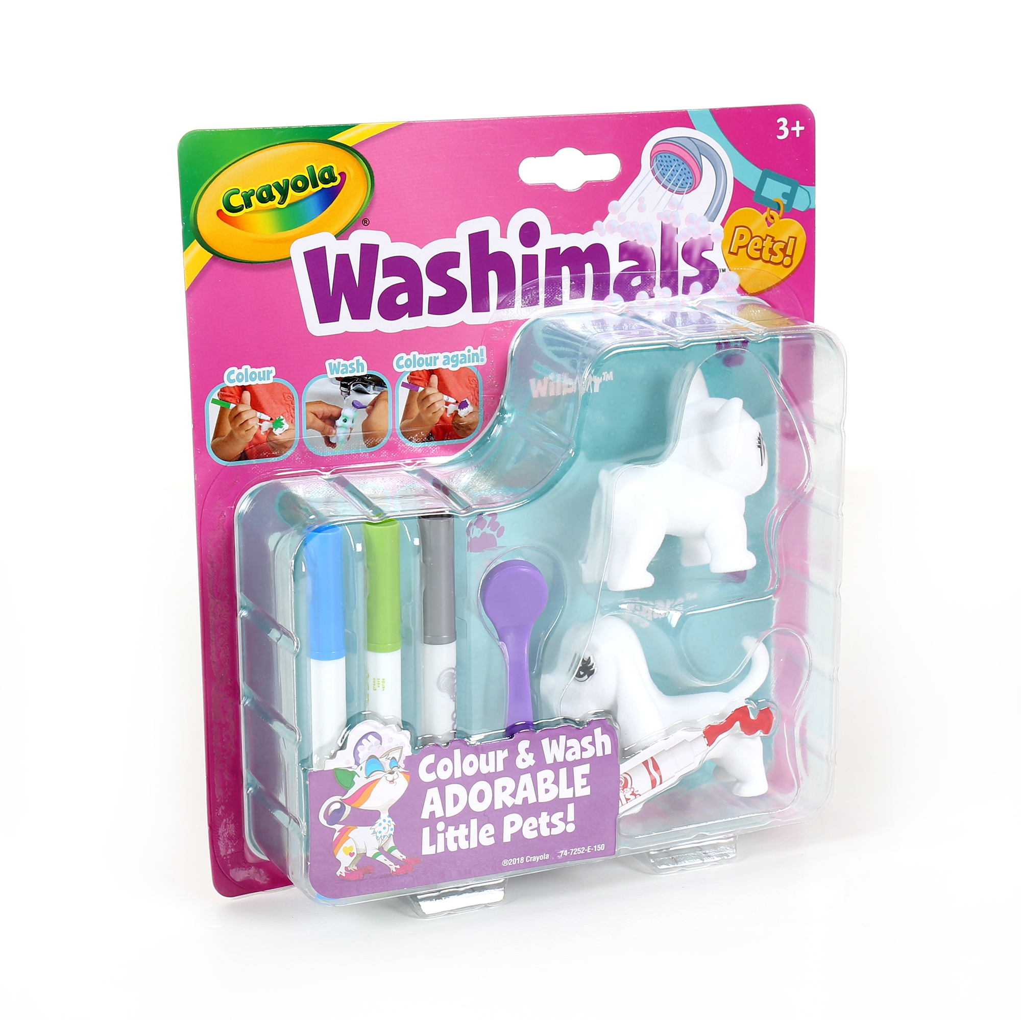 ALBI Crayola Washimals - Mini sada 1 - Psi