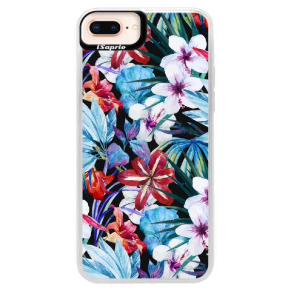 Neonové pouzdro Pink iSaprio - Tropical Flowers 05 - iPhone 8 Plus