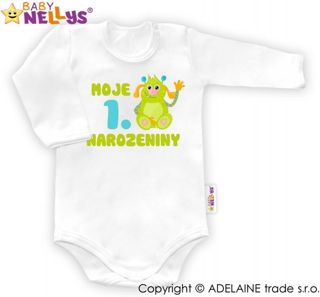 Body dl. rukáv vel. 86, Moje 1. narozeniny KL6 (12-18m) - Body dl. rukáv - Moje 1. narozeniny Kluk Baby Nellys ® - 80 (9-12m)