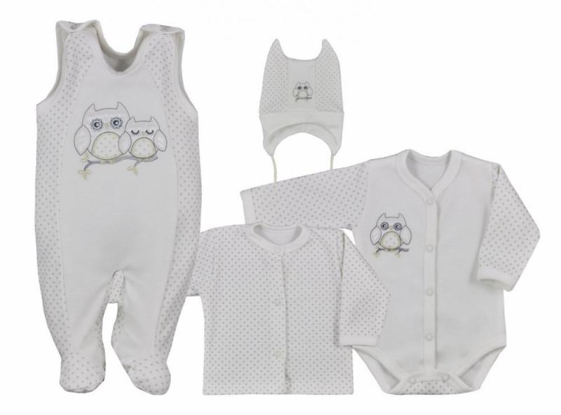 koala-baby-4-dilna-bavlnena-soupravicka-do-porodnice-sovicka-ecru-vel-68-68-4-6m