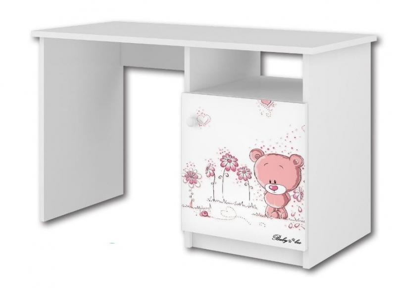 BabyBoo Psací stůl - Medvídek STYDLÍN růžový, D19
