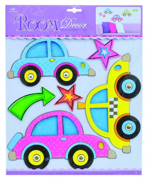 Dětské prostorové samolepky na zeď - auta
