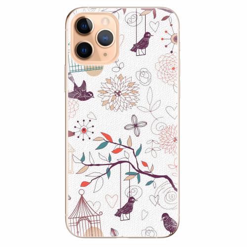 Silikonové pouzdro iSaprio - Birds - iPhone 11 Pro