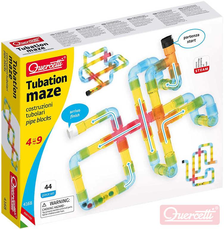 QUERCETTI Tubation Maze 3D potrubí transparentní 44 dílků