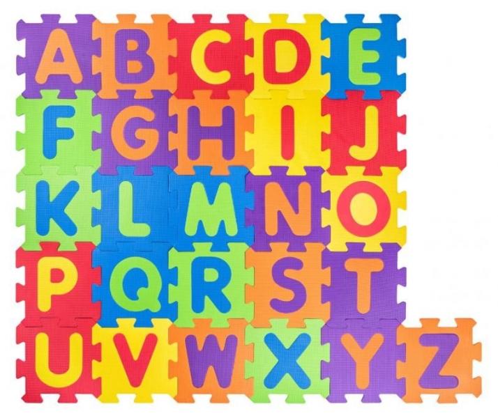 Plastica Pěnové podlahové puzzle Abeceda - 52 ks
