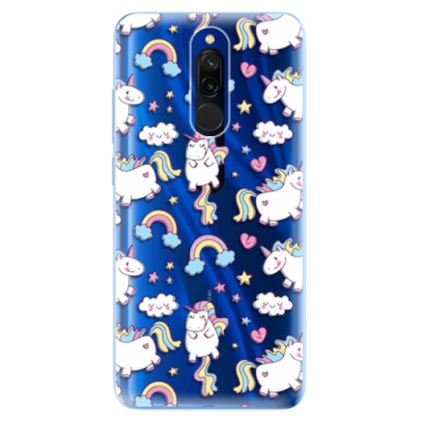 Odolné silikonové pouzdro iSaprio - Unicorn pattern 02 - Xiaomi Redmi 8