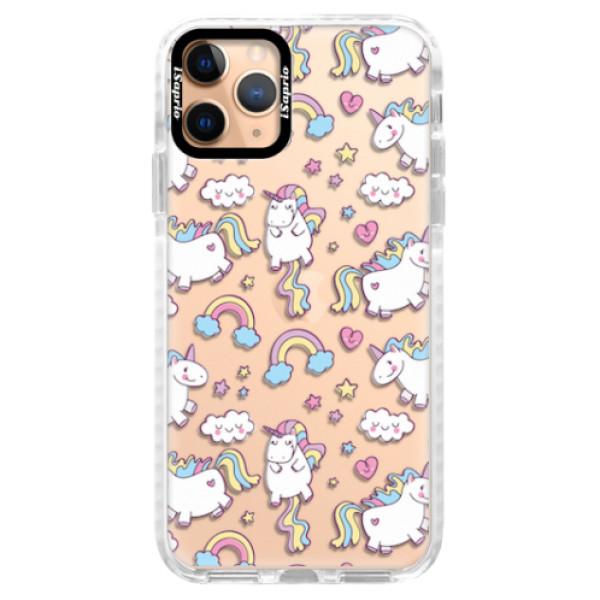 Silikonové pouzdro Bumper iSaprio - Unicorn pattern 02 - iPhone 11 Pro