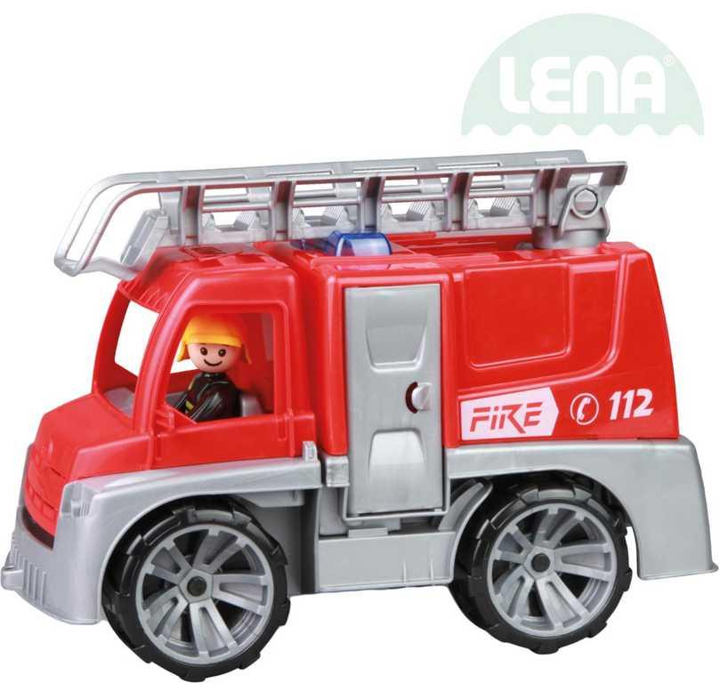 LENA Truxx auto funkční Hasiči 29cm set s figurkou volně plast