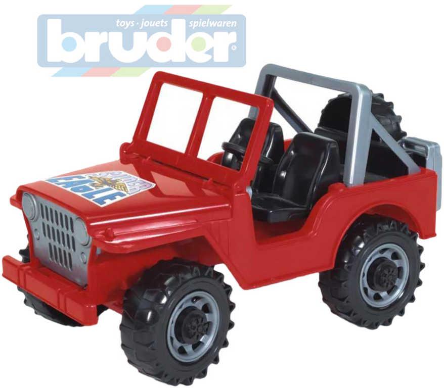 BRUDER 02540 (2540) Auto 1:16 Jeep plastový červený 26cm
